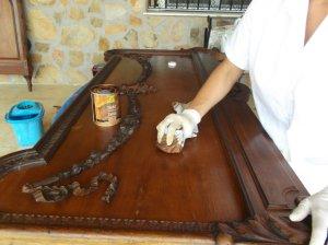 Rlimpieza, cosolidación , tintado y encerado piecero (10)